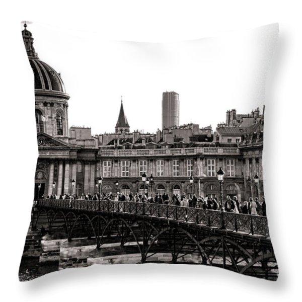 Quintessential Paris Throw Pillow by Olivier Le Queinec