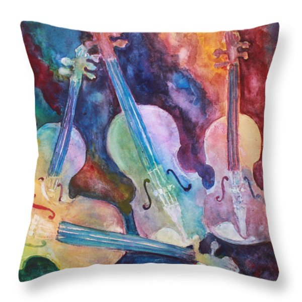 Quintet In Color Throw Pillow by Jenny Armitage