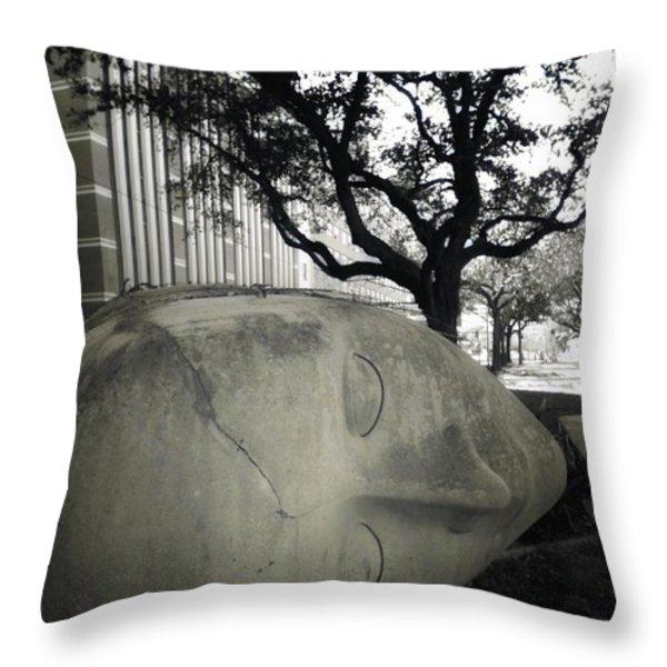 Quit While U R A  Head Throw Pillow by Robert McCubbin