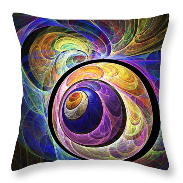 Quizzical Throw Pillow by Anastasiya Malakhova