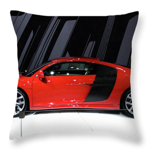 R8 in red Throw Pillow by Alan Look