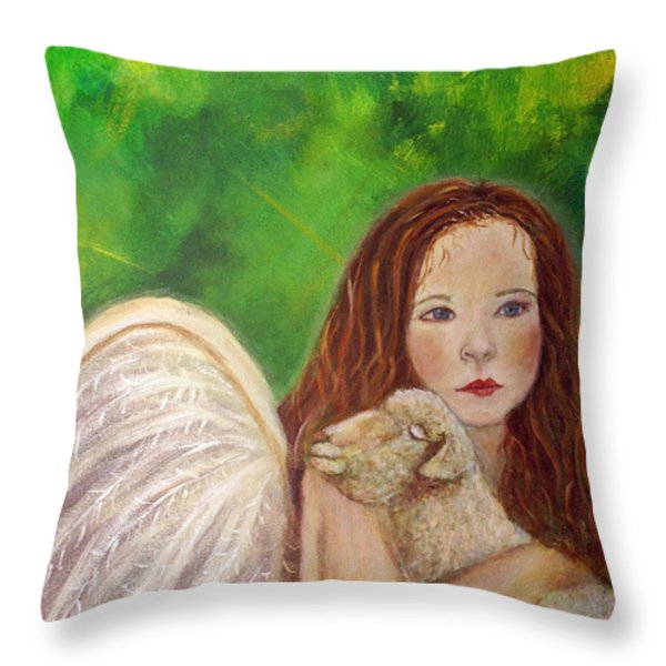 Rachelle Little Lamb The Return To Innocence Throw Pillow by The Art With A Heart By Charlotte Phillips