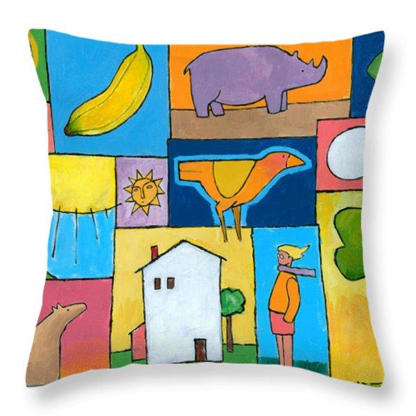 Rachel's Painting Throw Pillow by Douglas Simonson