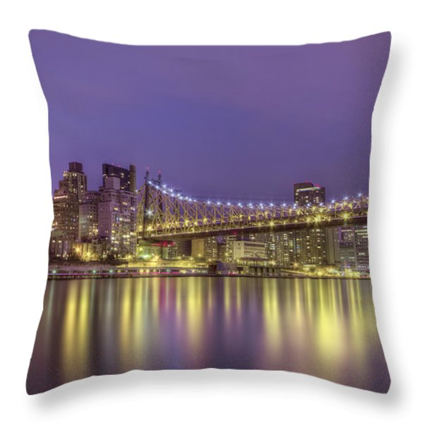 Radiant City Throw Pillow by Evelina Kremsdorf