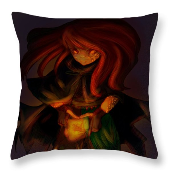 Radiating Light - Original Artwork by Amy Manley  Throw Pillow by Gina Lee Manley