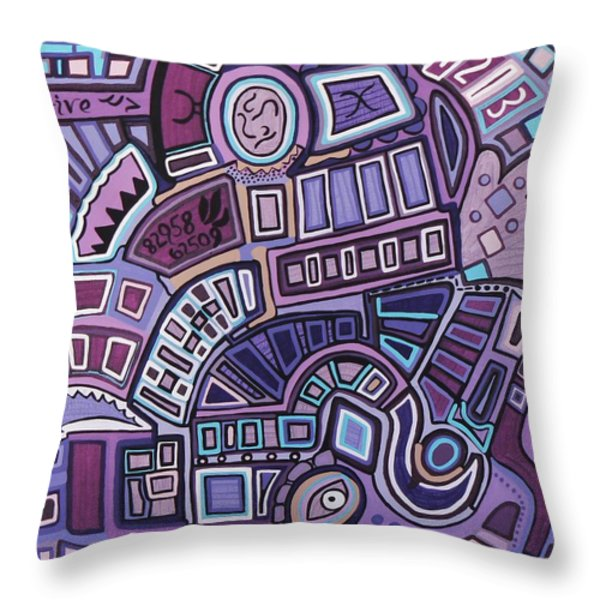 Radio Active Throw Pillow by Barbara St Jean