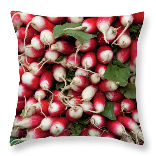 Radish Stack Throw Pillow by Art Block Collections