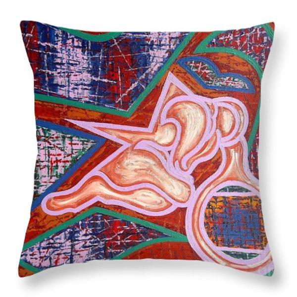 Rage Throw Pillow by Patrick J Murphy