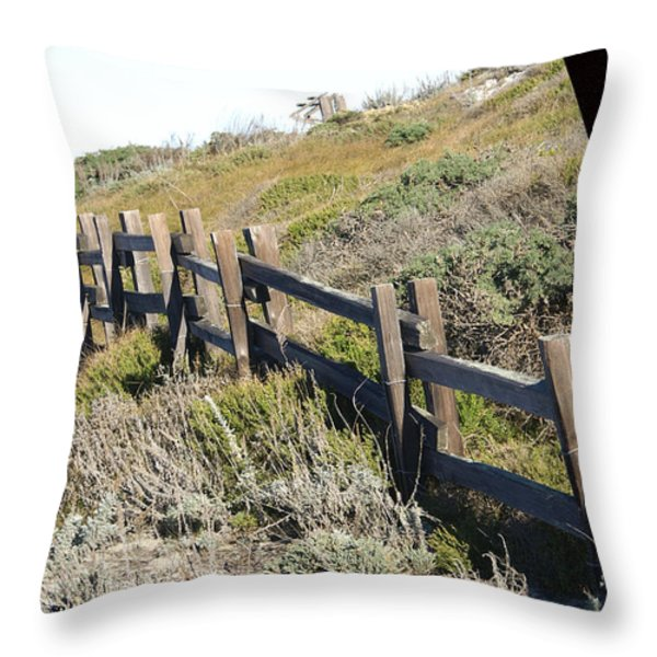 Rail Fence Black Throw Pillow by Barbara Snyder