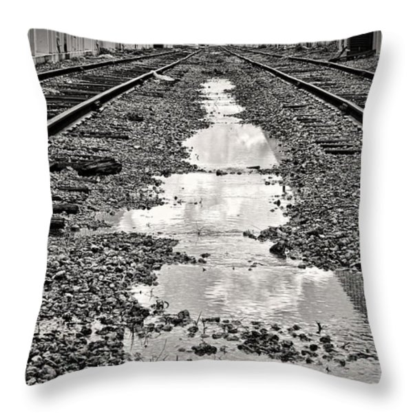 Railroad 5715bw Throw Pillow by Rudy Umans