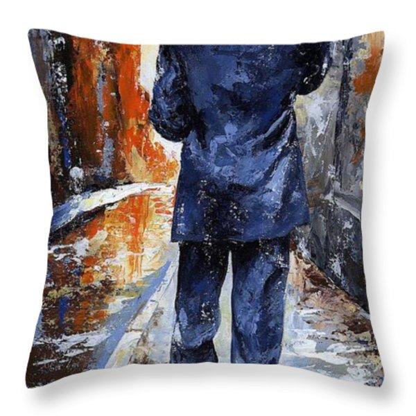 Rain Day #20 Throw Pillow by Emerico Imre Toth