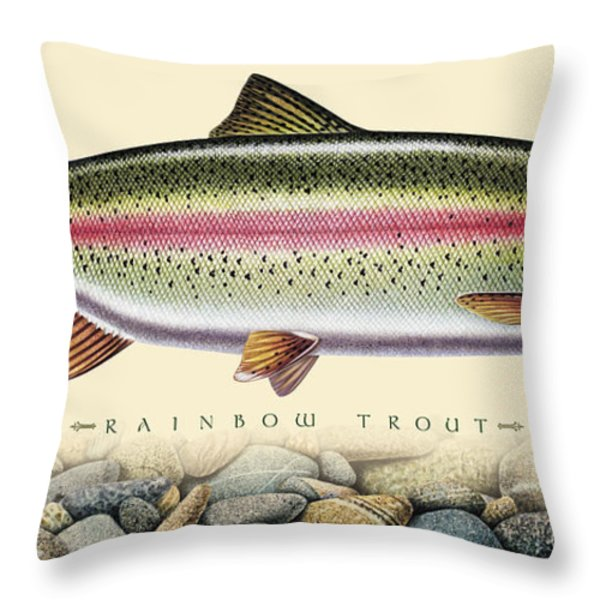 Rainbow And Stones Throw Pillow by JQ Licensing