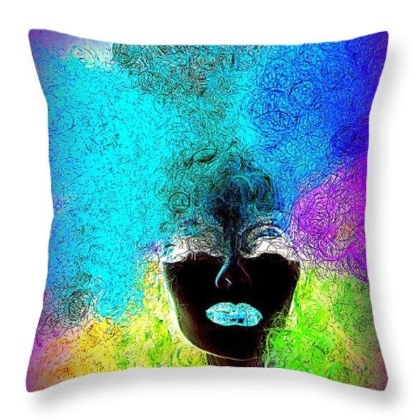 Rainbow Beauty Throw Pillow by Ed Weidman
