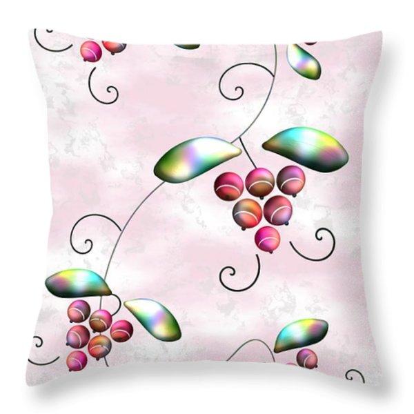 Rainbow Berries Throw Pillow by Anastasiya Malakhova