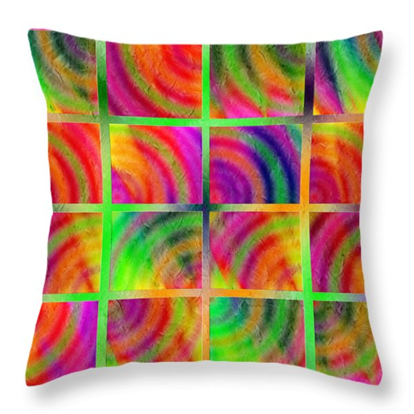 Rainbow Bliss 3 - Over the Rainbow H Throw Pillow by Andee Design