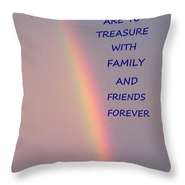 Rainbow Happiness Throw Pillow by Joseph Baril
