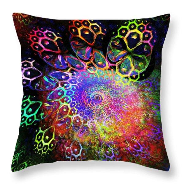 Rainbow Leopard Throw Pillow by Anastasiya Malakhova