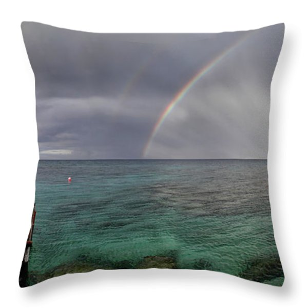 rainbow light Throw Pillow by Stylianos Kleanthous