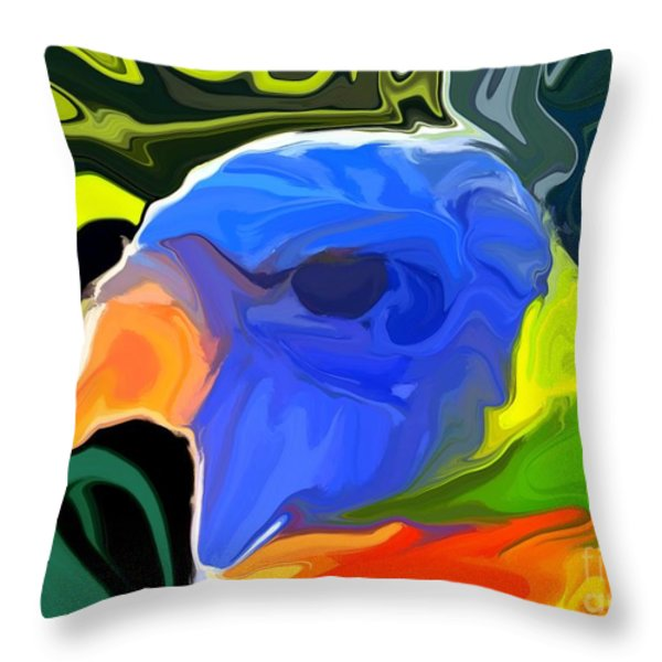 Rainbow Lorikeet Throw Pillow by Chris Butler