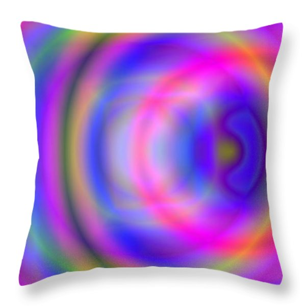 Rainbow Of Rings Throw Pillow by Christy Leigh