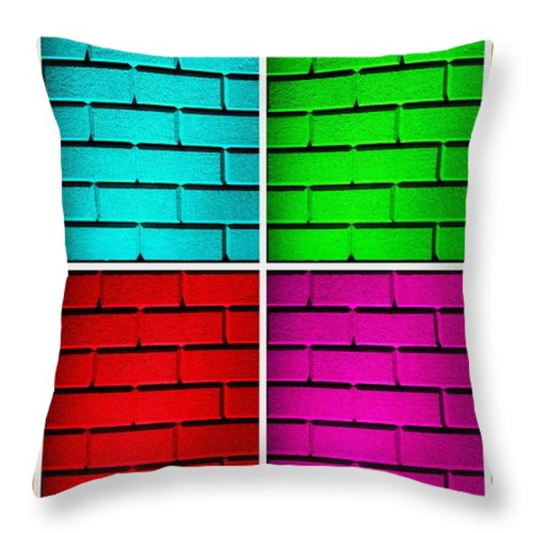 Rainbow Walls Throw Pillow by Semmick Photo
