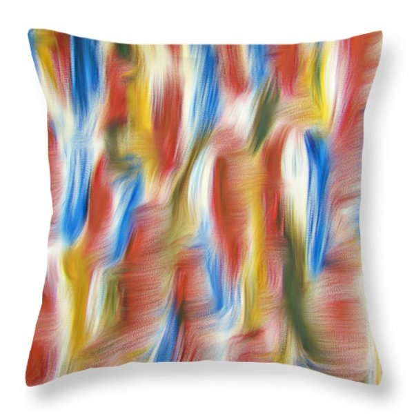Rainbows Throw Pillow by M and L Creations Craft Boutique