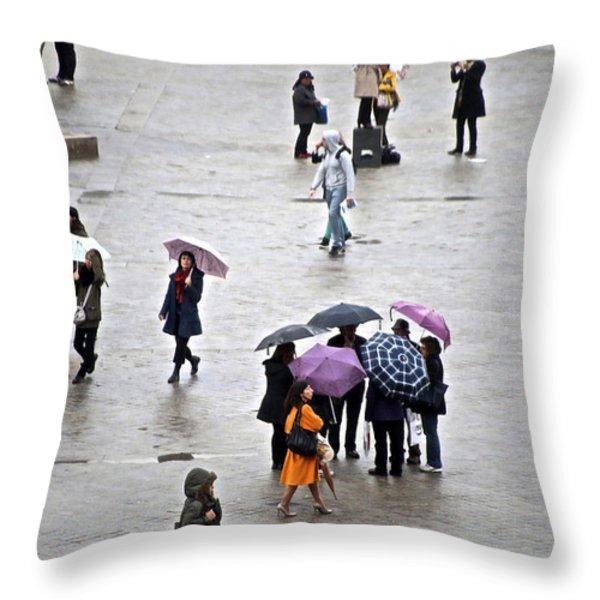 Rainy Day Throw Pillow by Randi Shenkman