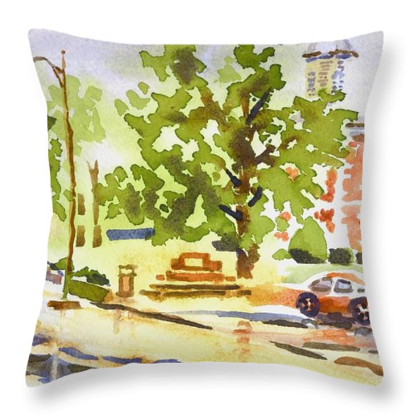Rainy Days Throw Pillow by Kip DeVore