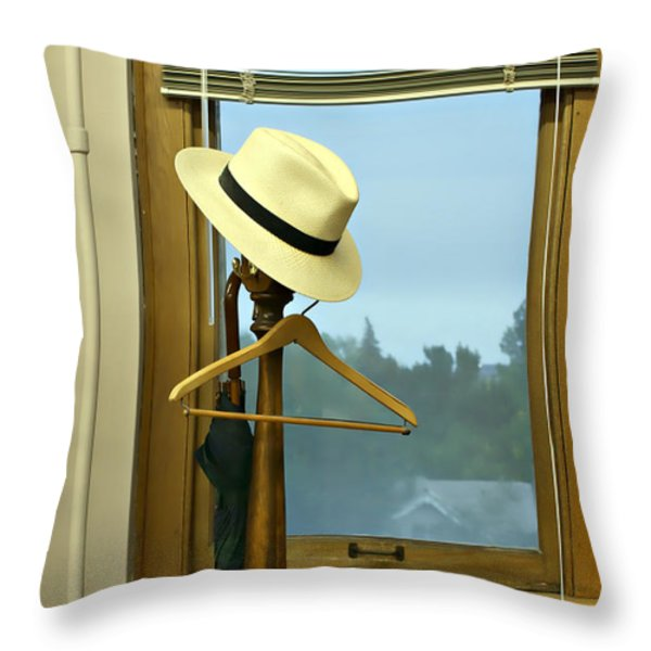 Rainy Morning Throw Pillow by Nikolyn McDonald