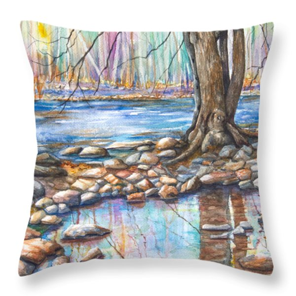 Ralph Stover Park in the Spring Throw Pillow by Patricia Allingham Carlson