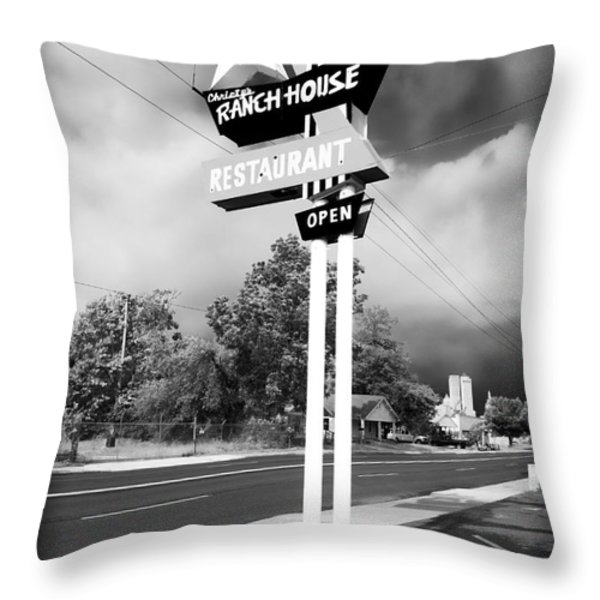 Ranch House Throw Pillow by John Rizzuto