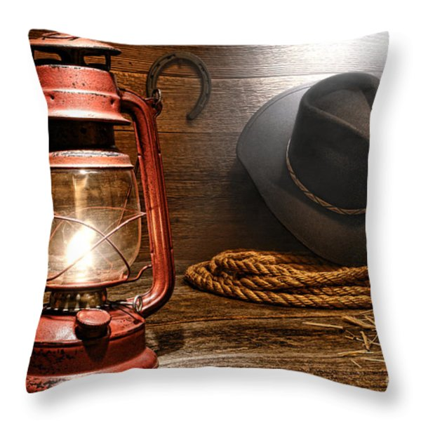 Ranch Light Throw Pillow by Olivier Le Queinec