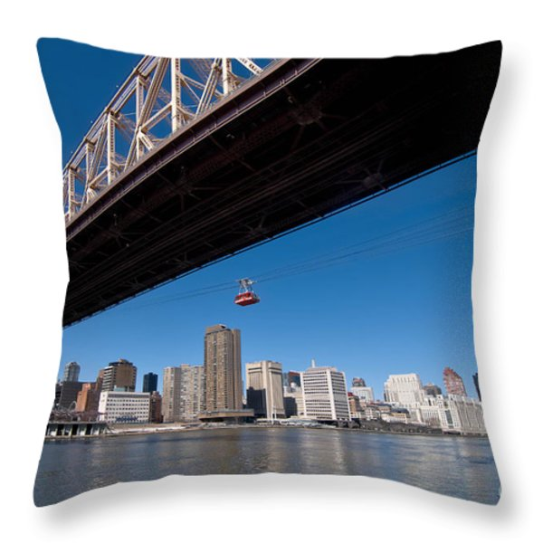 Randall Island Tram Throw Pillow by Amy Cicconi