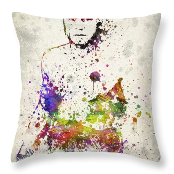 Randy Couture Throw Pillow by Aged Pixel