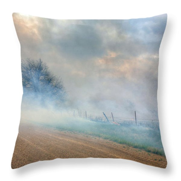 Range Burning Throw Pillow by JC Findley