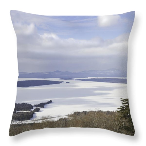Rangeley Maine Winter Landscape Throw Pillow by Keith Webber Jr
