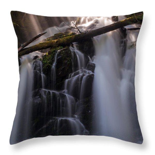 Ranger Falls Sunbeams Throw Pillow by Mike Reid