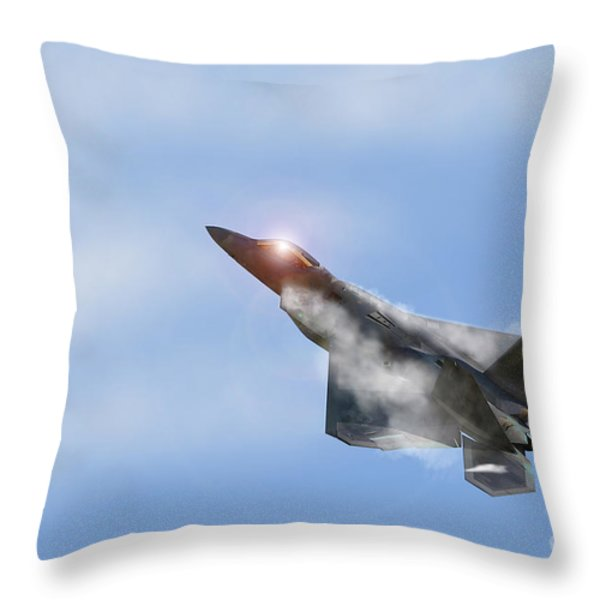 Raptor Vapour Throw Pillow by J Biggadike