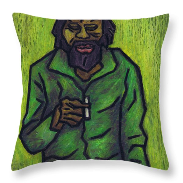 Rastafarian Throw Pillow by Kamil Swiatek