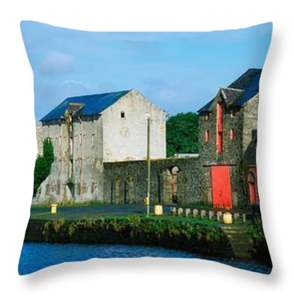 Rathmelton, Co Donegal, Ireland Throw Pillow by The Irish Image Collection