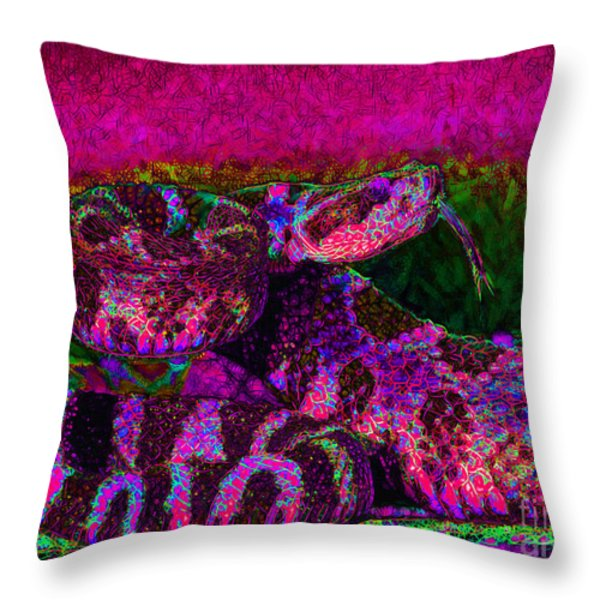 Rattlesnake 20130204m80 Throw Pillow by Wingsdomain Art and Photography