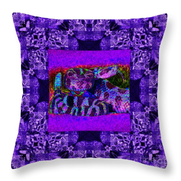 Rattlesnake Abstract Window 20130204m133 Throw Pillow by Wingsdomain Art and Photography