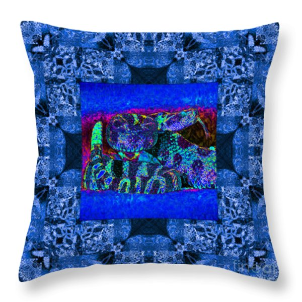 Rattlesnake Abstract Window 20130204m180 Throw Pillow by Wingsdomain Art and Photography