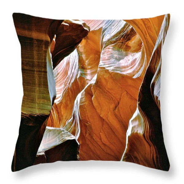Rattlesnake Canyon Throw Pillow by Ed  Riche