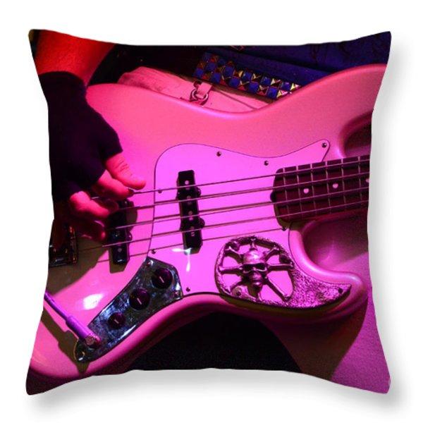 Raunchy Guitar Throw Pillow by Bob Christopher