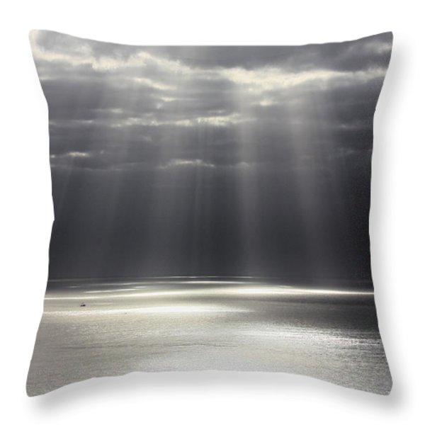 Rays of Hope Throw Pillow by Shane Bechler