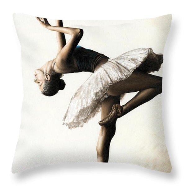Reaching for Perfect Grace Throw Pillow by Richard Young