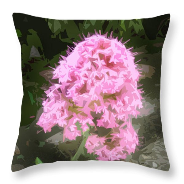 Reaching For The Light Throw Pillow by Cathy Peterson