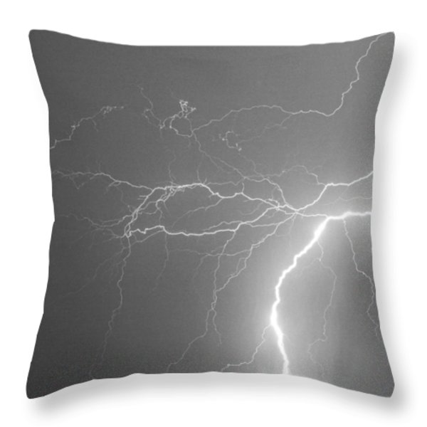 Reaching Out Touching Me Touching You Bw Throw Pillow by James BO  Insogna