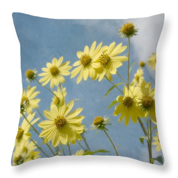 Reaching To The Sun Throw Pillow by Kim Hojnacki